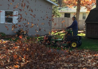 Leaf Blower on Mower