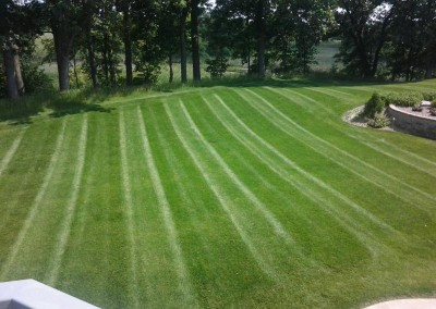 Beautiful Straight Line Mowing